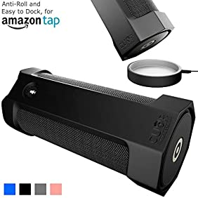 Amazon Tap Case Sling Cover [Anti-Roll] Easily Dock on Your USB Charger Cradle Base Now With The Best Bottomless Silicone Design by CUVR (Black)