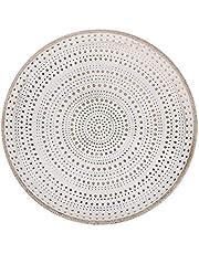 Flanacom - Bandeja decorativa con adornos como decoración de mesa moderna para la vivienda