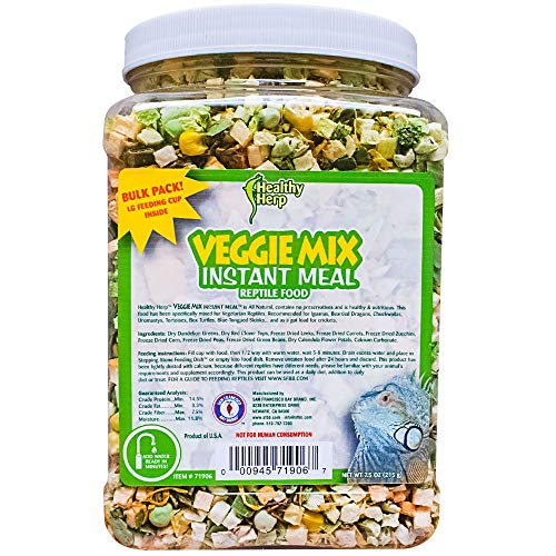 Healthy Herp Veggie Mix Instant Meal Bulk 7.5-Ounce (212.63 Grams) Jar