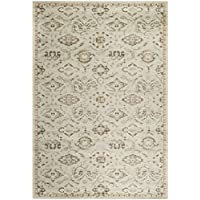 Safavieh Florenteen Collection FLR128-8012 Traditional Grey and Ivory Area Rug (51 x 77)