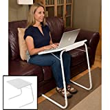 Evelots Adjustable Folding Laptop TV Dinner Table, Reading/Writing/Art