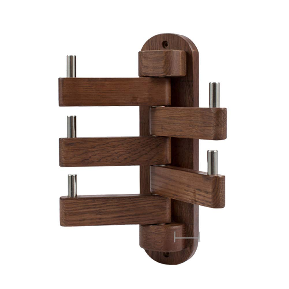 JIANFEI Floor Standing Coat Rack Hat Stand Hanger Multifunction Bearing Strong Wall-Mounted,Oak 2 Colours (Color : Brown, Size : 250x300mm)