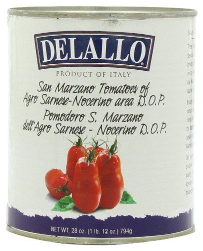 Delallo Przywożone San Marzano Pomidory całe, bez skórki