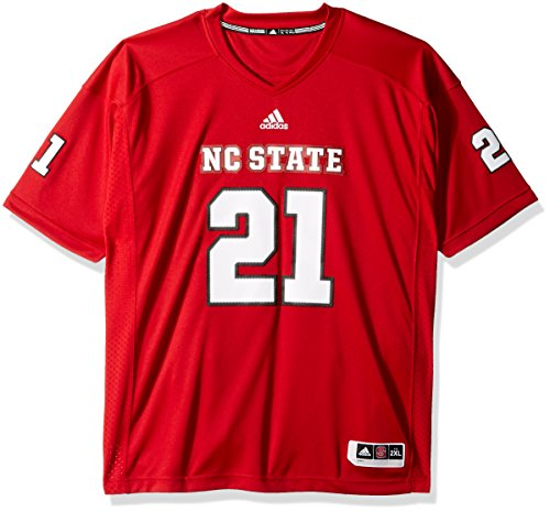 NCAA North Carolina State Wolfpack Adult Men Premier Football Jersey, Medium, Power Red