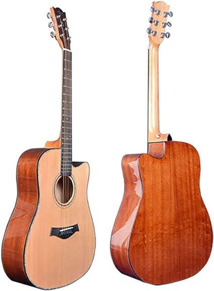 NUYI 41 Pulgadas con Cuerdas De Acero Guitarra Acústica para ...