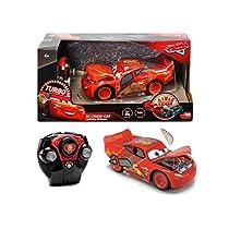 Simba - RC Cars 3 Lightning McQueen Crazy Crash Radiocomando 1:24, Colore Rosso