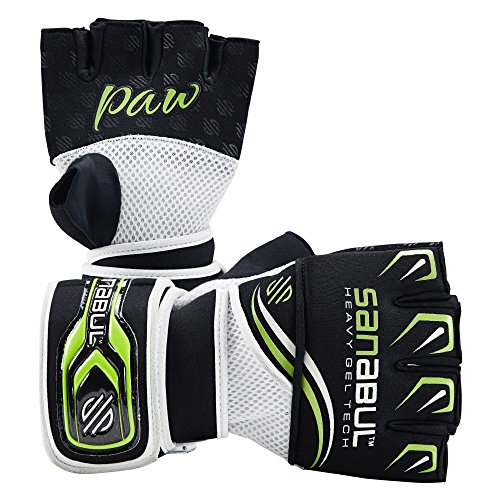 Sanabul Punch And Workout Gel Boxing MMA Kickboxing Handwrap Glove (Green Large)