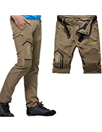 Men's Lightweight Belted Convertible Quick Dry Pants W29-38