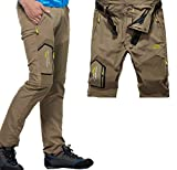 Amoystyle Men's Lightweight Belted Convertible Quick Dry Pants W29-38