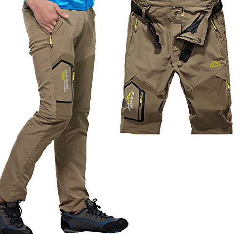 Amoystyle-Mens-Lightweight-Belted-Convertible-Quick-Dry-Pants-W29-37