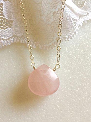 (Rose Quartz Necklace,
