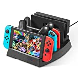 #9: Nintendo Switch Charger Stand – Younik Vertical Stand Charging Dock Station with LED Indication & Type C Cable for Nintendo Switch Console, Joy-Con Controller & Switch Pro Controller