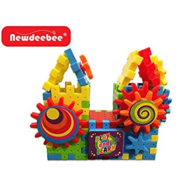 Newdeebee - 3D Interlocking Learning Gears (Special Edition) - Gear Building Toy Set: Toys & Games