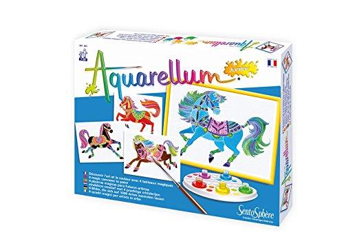 SentoSphere Aquarellum Junior - Horses - Arts and Crafts Watercolor Paint Set