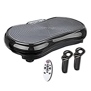 Pinty Fitness Vibration Platform Whole Body Vibration Machine Crazy Fit Vibration Plate with Remote Control & Resistance Bands