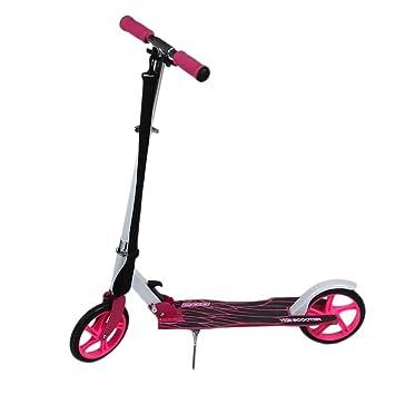 Patinete Plegable Scooter Patinete de aleación de aluminio con 2 Ruedas Grandes ruedas Manillar regulable en