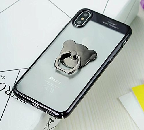 for-iPhoneX-Case-Omio-Soft-Flexible-PC-Clear-Cover-Electroplate-Ultra-Thin-Cover-Bear-Kickstand-Stand-Ultralight-Slim-Fit-Transperant-Camera-Lens-Protective-Anti-Slip-Shell-for-Apple-iPhone-X-10