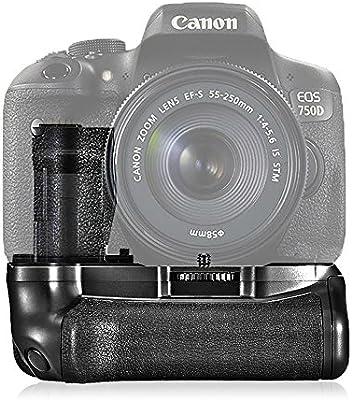 samtian bg-1 V soporte de toma de Batería Vertical para Canon 750d ...