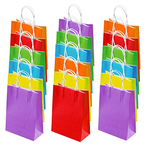 24 Pieces 6.3x3.15x8.66 Inches Kraft Paper Bags, ORZIZRO