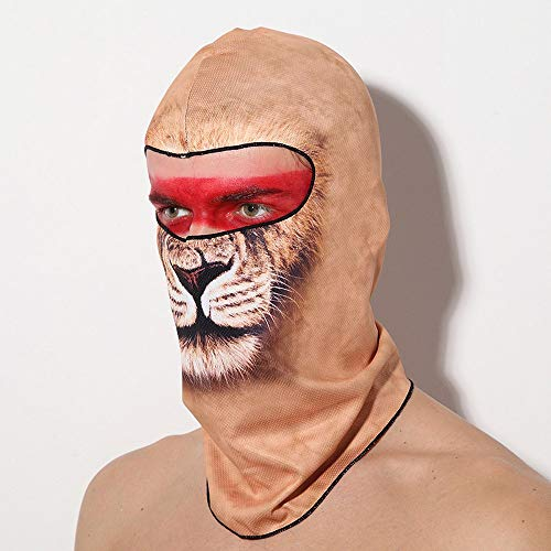 3D Animal Cycling Face Mask Motorcycle Outdoor Riding Dustproof Sunscreen Hood Quick-drying Balaclava Trick Attractive Game Play costume Party Face Mask]()
