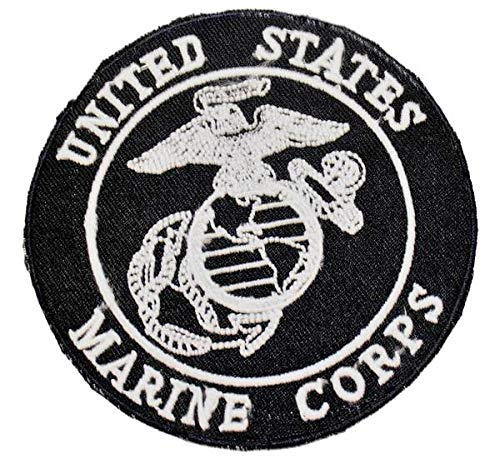 (STURGIS MIDWEST INC Motorcycle United States Marine Corps Patch White on Black)