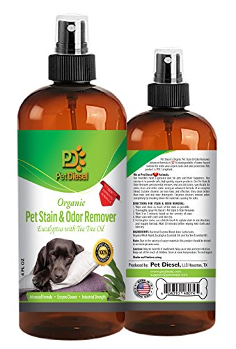 Pet Stain & Odor Remover Spray Best Organic Enzyme Cleaner For Pet Odor Elimination Dog & Cat Urine