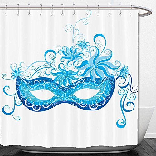 Venetian Masks Los Angeles (Beshowere Shower Curtain Collection Venetian Mask Majestic Impersonating Enjoying Halloween Theme Image Print Polyester Fabric Bathroom Set with HookNavy Blue Turquoise.jpg)