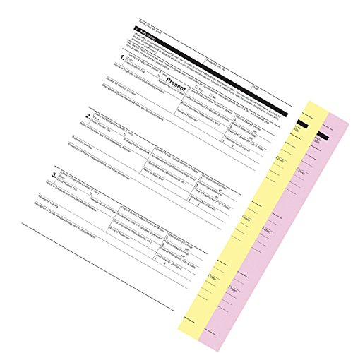 PM Company Three Part Pink/Canary/ White Digital Carbonless Paper, 8.5 x 11 Inches, Reverse Sequence, 2505 Sheets per Carton (59105) by PM Company