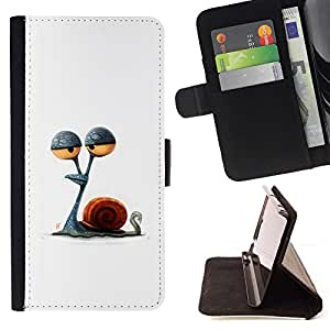 Momo Phone Case / Flip Funda de Cuero Case Cover - Dessin minimaliste Stoned - Apple Iphone 5 / 5S