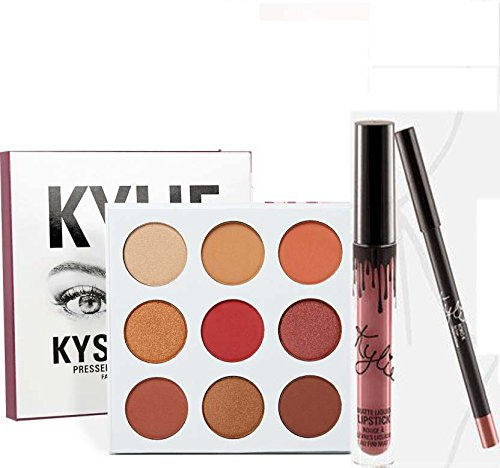 b0aa9366aa7 Buy combo of 2 (Kylie BURGUNDY PALETTE + KOKO K LIP KIT (Set of 2) Online  at Low Prices in India - Amazon.in