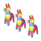 Pinatas Mini Donkey Burro Fiesta Party Favors, 3 Piece