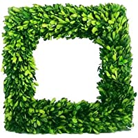 Mills Floral Company Boxwood Square Wreath 16
