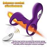 Penis Ring Cock Ring Vibrating Prostate Massager Clitoral G-Spot Vibrator Stimulators Male Sex Toys Anal Plug Toys Wireless Remote Control Vibrator Butt Plug Massager for Men Women Couples Masturbatio