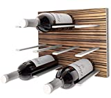 Stact Wall Mounted Wine Rack in Zebrano