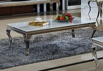 Wohnen Luxus Table Basse De Salon Aura 130 X 70 X 42 Cm Blanc De