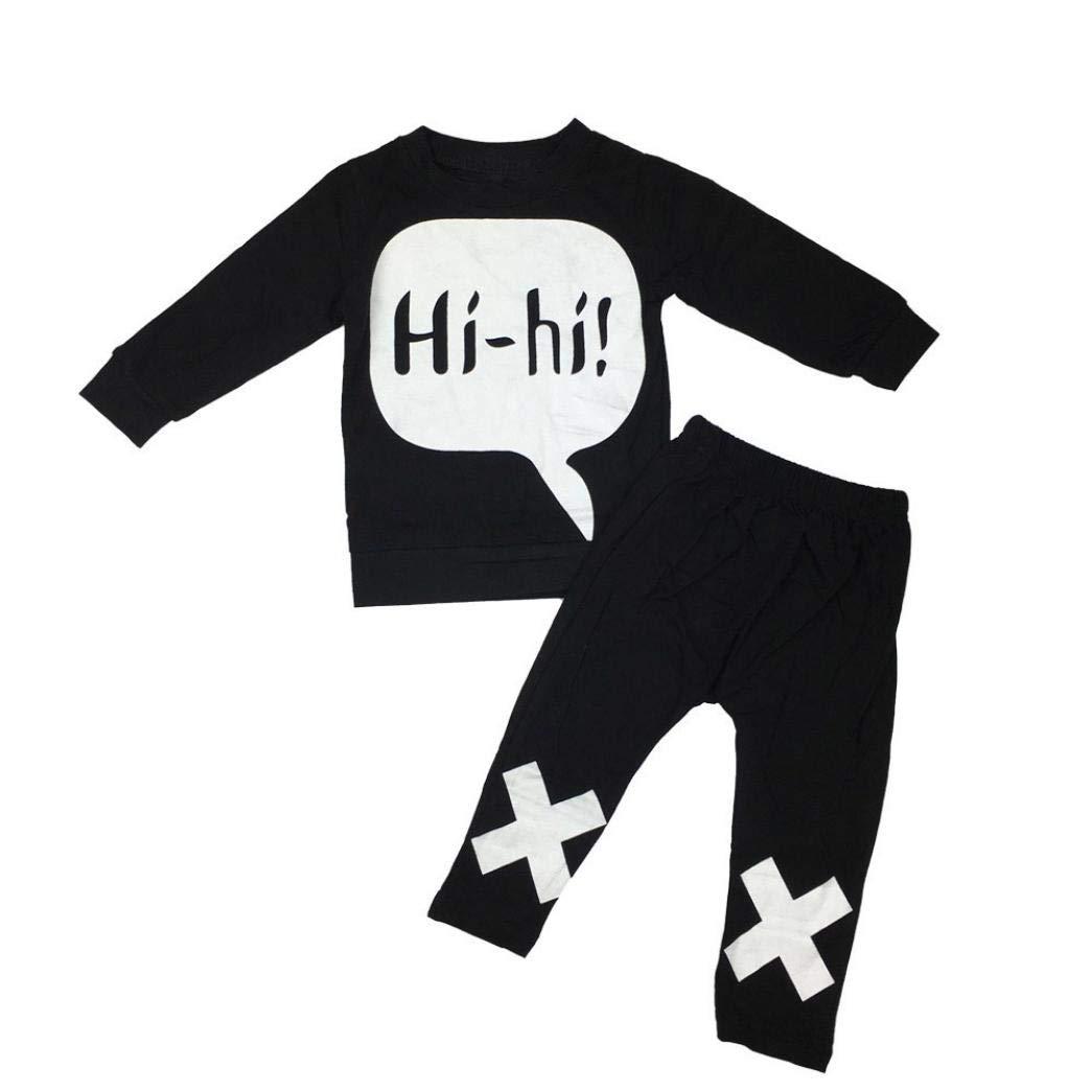 a79152b566e5 Amazon.com  Infant Toddler Baby Boys Clothes Outfit 2Pcs Set Fall ...