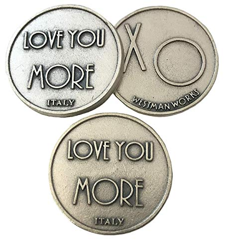 Westman Works Set of 10 Love You More XO Pocket Token 1 1/4 Inch