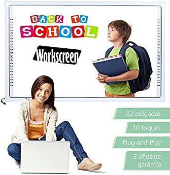 Pizarra digital interactiva Workscreen 82 pulgadas: Amazon.es: Electrónica