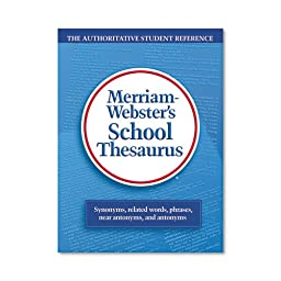 Merriam Webster - School Thesaurus, Grades 9-11, Hardcover, 704 Pages 78 (DMi EA