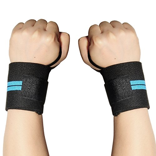 CFIKTE Fitted Wrist Brace,Fits BOTH Hands and Helps with Carpal Tunnel, Tendonitis, Wrist Pain and Sports Injuries - Removable Splint - One Size Fits Most (Right and left hand universal) (blue)