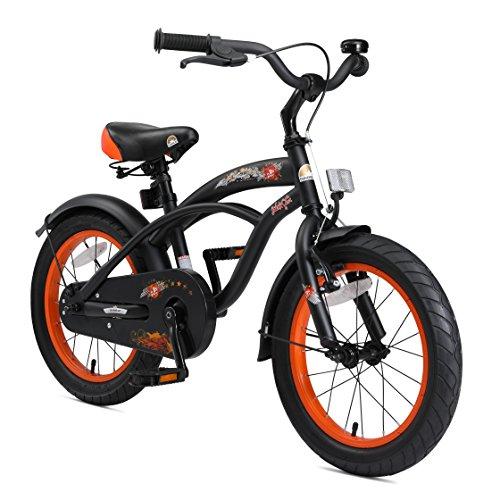 🥇 BIKESTAR Bicicleta Infantil para niños y niñas a Partir de 4 años | Bici 16 Pulgadas con Frenos | 16″ Edición Cruiser