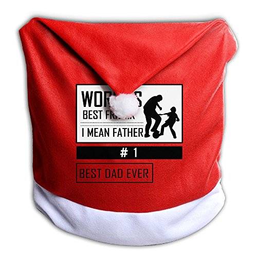 Christmas Seat Cover World's Best Father Ever Fashion Santa Claus Chair Covers 50x60CM ZHONGRANINC
