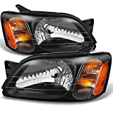 Subaru Legacy GT / Outback / Baja Black Driver Left + Passenger Right Side Headlights Replacement