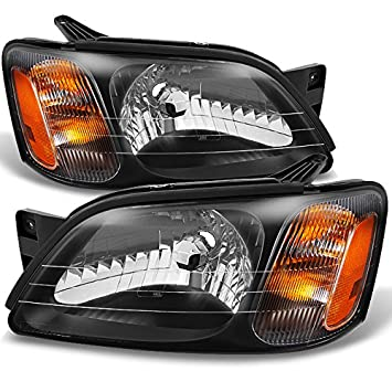 For Subaru Legacy GT/Outback/Baja Black Driver Left + Passenger Right Side  Headlights Replacement