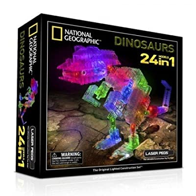 Laser Pegs®, National Geographic™ 24 in 1 Dinosaurs Set - Item #NG300