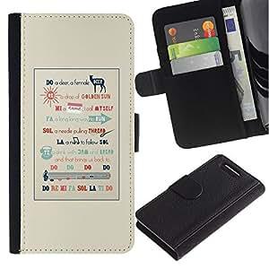 KingStore / Leather Etui en cuir / Sony Xperia Z1 Compact D5503 / Cita de la música Artista Cantante Pianista