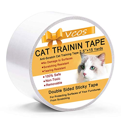 Double Sided Cat Tape Anti Scratch Cat Training Tape for Door Floor Couch Furniture Surfaces Scratching Guard Protector 2.5 inches x 15 Yard (Dog Louis Beds)