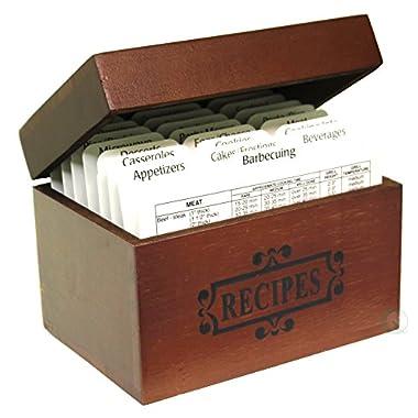 Vintiquewise(TM) Wooden Recipe Box