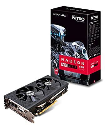 Sapphire Radeon NITRO+ Rx 470 8GB GDDR5 Dual HDMI / DVI-D / Dual DP OC w/ backplate (UEFI) PCI-E Graphics Card Graphics Cards 11256-02-20G by Althon Micro Inc.