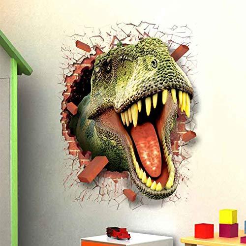 Ocamo Halloween 3D Dinosaur Pattern Wall Sticker Poster Wallpaper Decor Decal for Room Door Glass Window ()